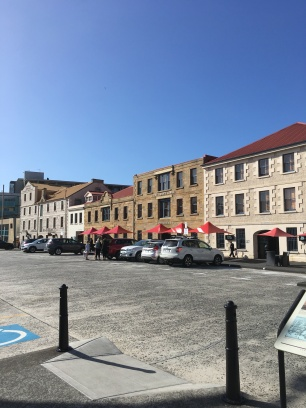 Old buildings along Hobart wharf