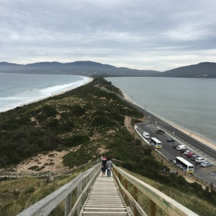 The Neck lookout (stretch of sand that joins the north island to the south)