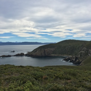 The cliffs at the farthest north point of Bruny Island