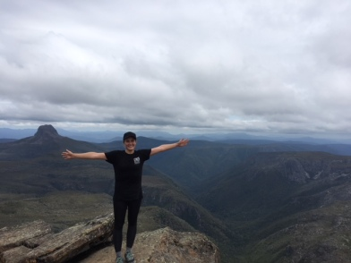 I was excited to have made it to the top!