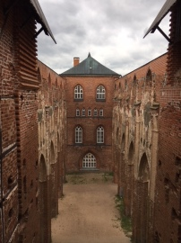 The remains of a cathedral in Tartu that was built in