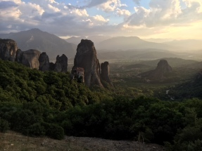 Meteora- a town in the mountains about 4hours from Athens, with monastries built high on top of cliffs
