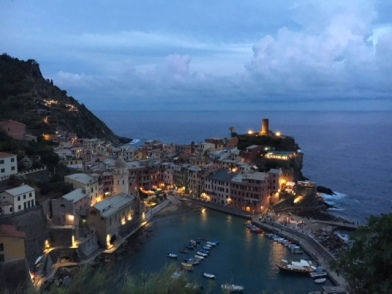 Sunset at Vernazza- a town in the Cinque Terre