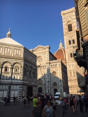 The stunning and elaborate decorations of the Cathedral in Florence